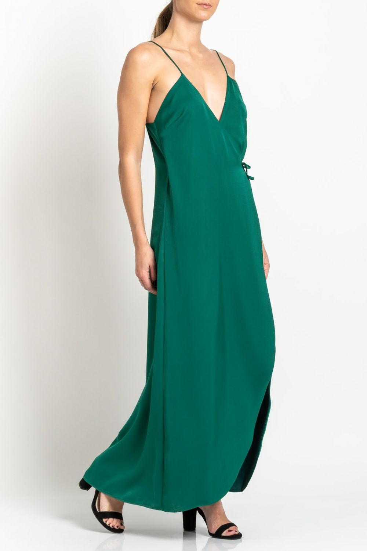 Midaxi πράσινο φόρεμα
