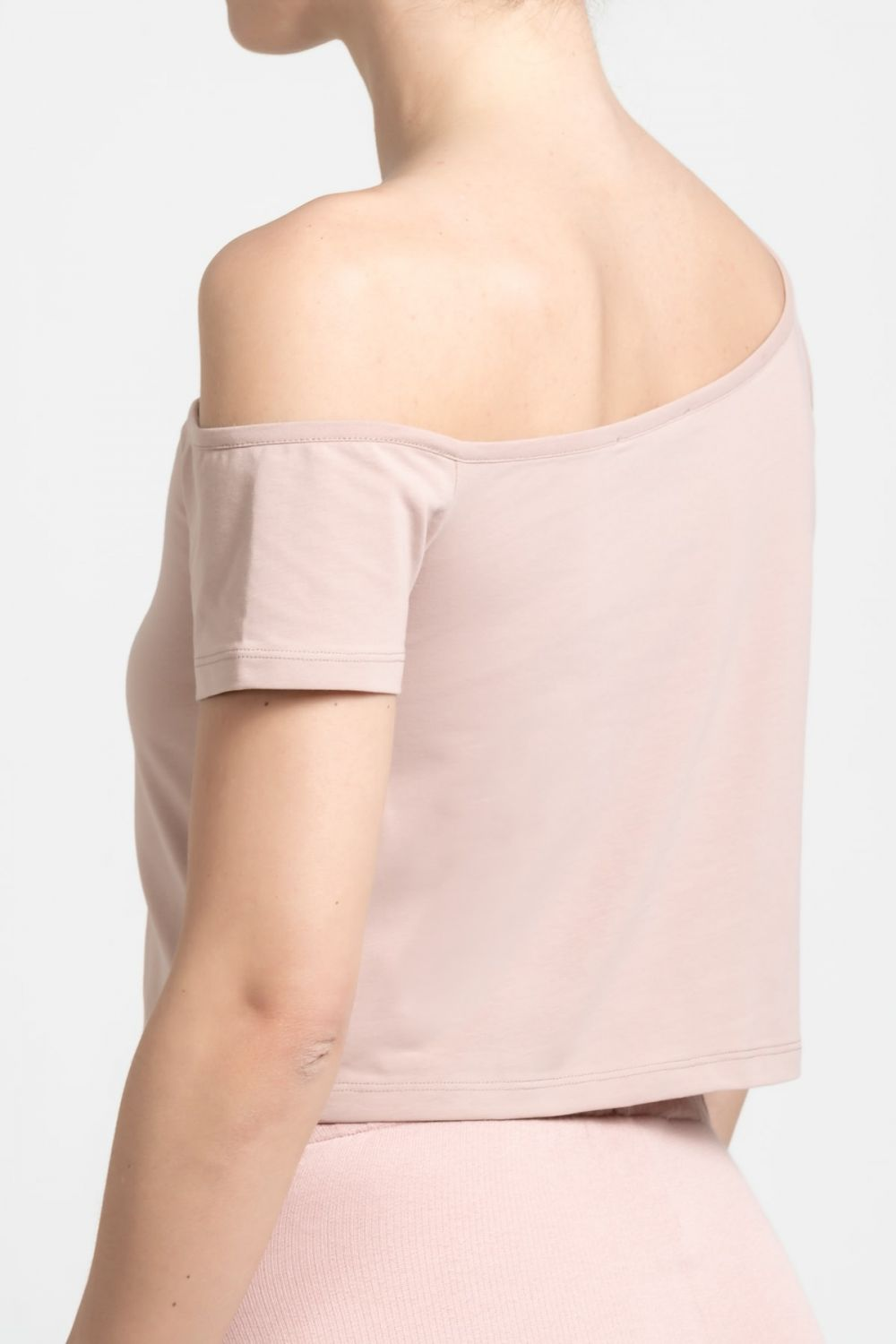 Open Shoulder salmon top