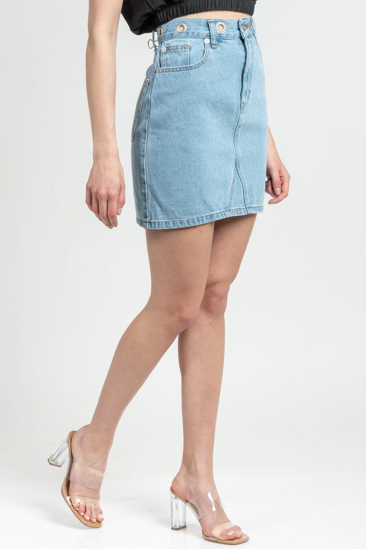 Vivian medium light blue jean skirt