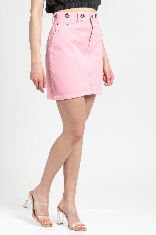 Vivian pink jean skirt