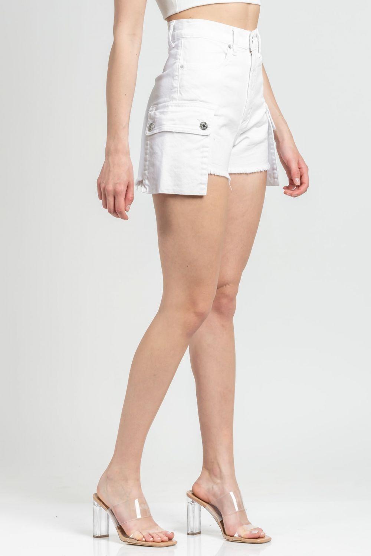 Lara white jean shorts
