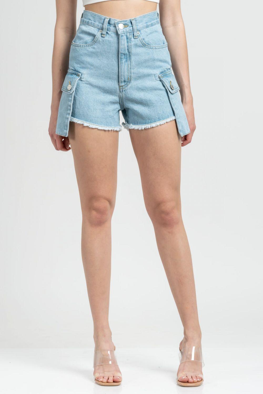 Lara medium light blue jean shorts