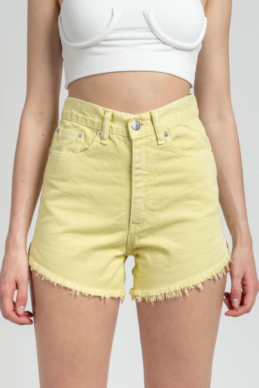 Donna yellow jean shorts