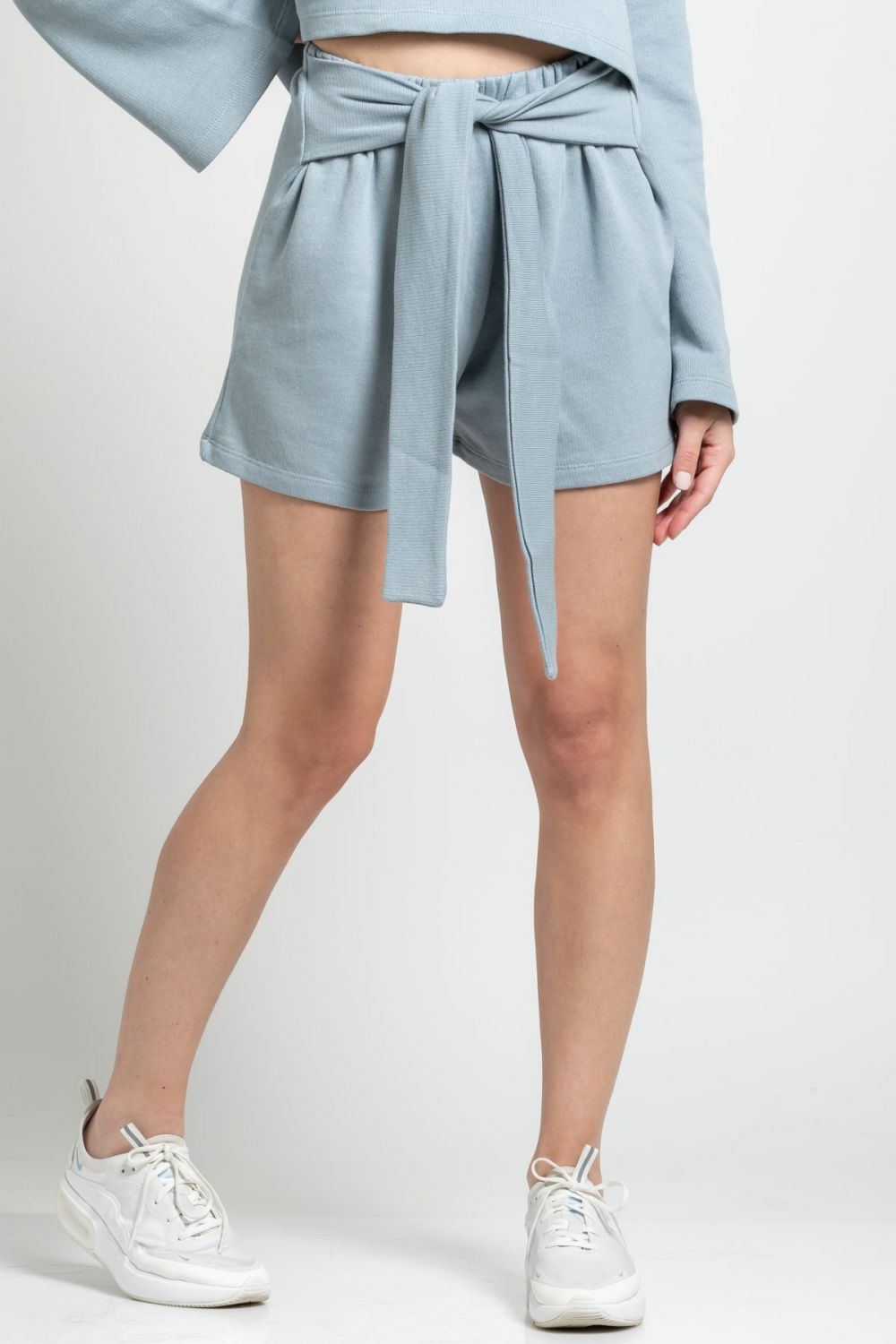 Wrap Front baby blue shorts