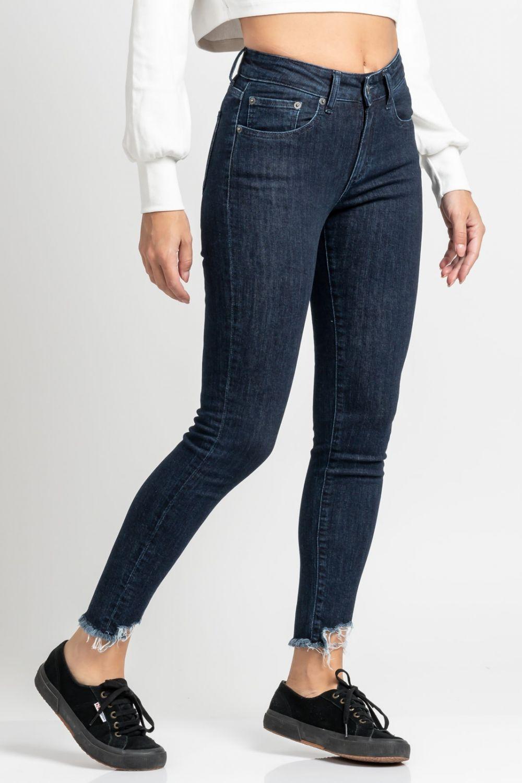 Brianna basic skinny jeans dark blue