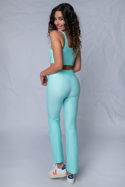 Flare leggings κολάν γαλάζιο