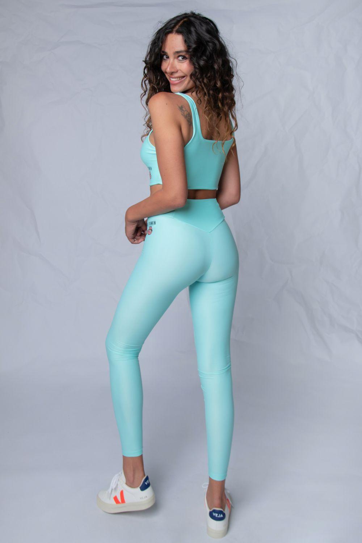 V leggings κολάν γαλάζιο