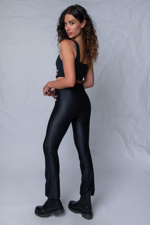 Flare leggings κολάν μαύρο