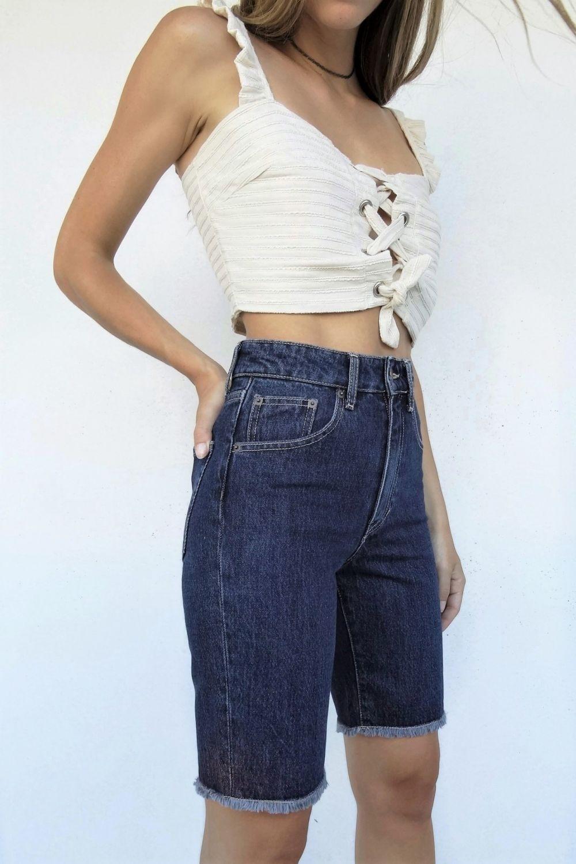 Kendall dark blue jean bermuda