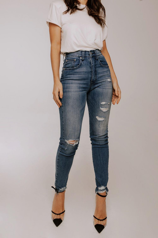 Veronica skinny jeans medium dark blue