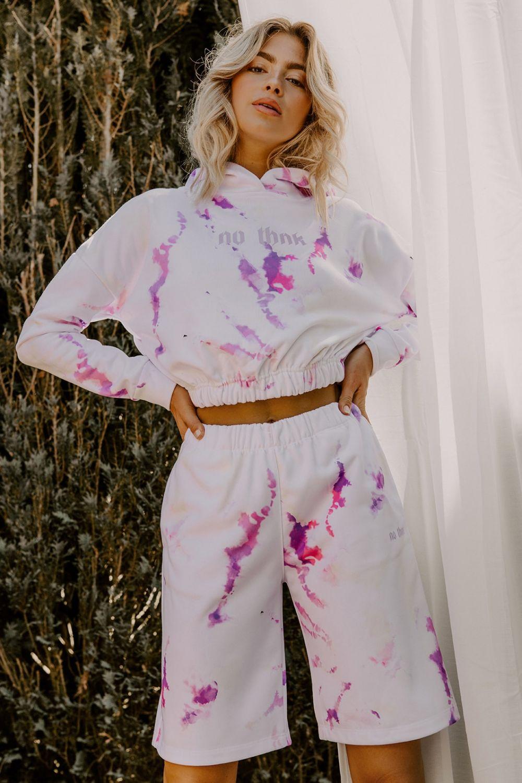 Beyonce pink tie dye basket shorts