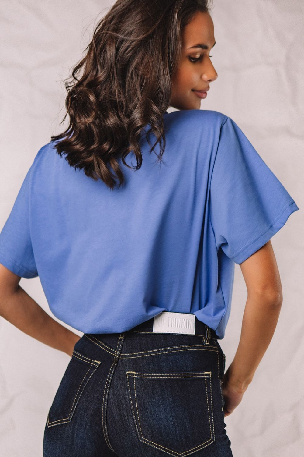 The Authentic blue top