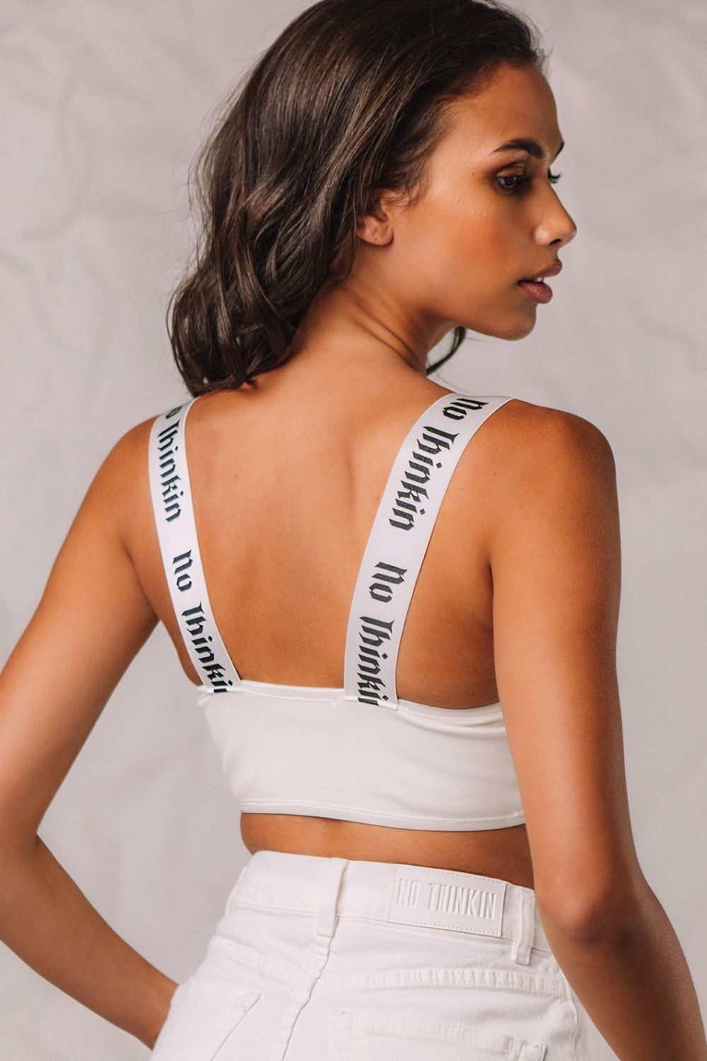 The Sexy crop top white